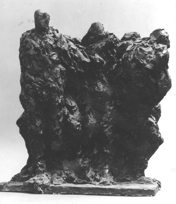 In the early 60's working in groups of figures, Thank you August Rodin