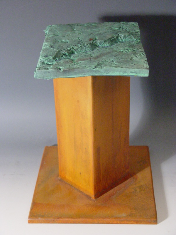 "one of the ""Anvil Series"" named because of its shape these pieces are small segments of the larger landscape pieces"